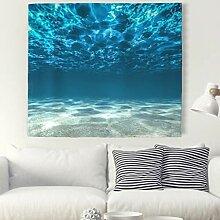 3D Meer Ozean Wandteppich Unterwasser Landschaft