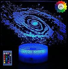 3D Milchstraße Lampe USB Power Fernbedienung 7/16