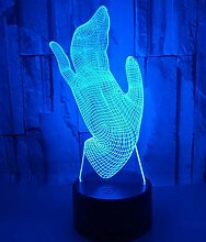 3D-Modellierung Design Hand Vision Licht LED Touch