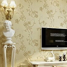 """3D Modern Extra-thick Non-woven European Modern Minimalist Country Luxury Wallpaper Roll for Living Room Bedroom Tv Backdrop Wall 0.53m(20.8"""")*10m(32.8')=5.3SQM(57sqfeet)"""