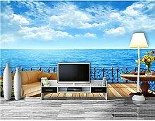 3D moderne Tapete Meer Fototapete Wohnzimmer 3D