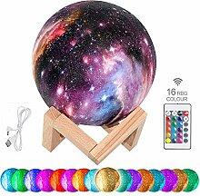 3D Mond Lampe FUNCUBE Sternenhimmel Nachtlicht 16