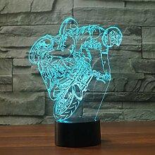 3D Motorrad Auto Optische Illusions Lampe 7 Farben