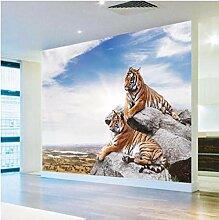 3D Mural Papier Tapete Fototapete Tiger Tapete