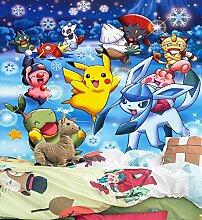 3D Murals for Pokemon Pikachu 313 Japan Anime
