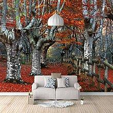 3D Murals Moderne Seide Kunstdruck Baum Ahorn Park