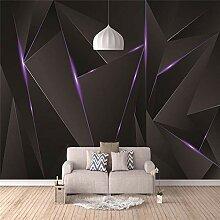 3D Murals Moderne Seide Kunstdruck Schwarz Blitz