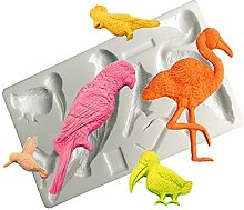 3D Muscheln Früchte Flamingos Turtleback Blätter