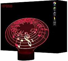 3D Music Box Lampe USB Power 7 Farben Amazing