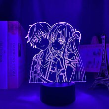 3D Nacht Lampe Anime Illusion Lampe Anime 3D Lampe