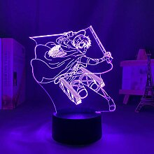 3D Nacht Lampe Anime Illusion Lampe Anime Anime