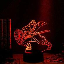3D Nacht Lampe Anime Illusion Lampe Anime Demon