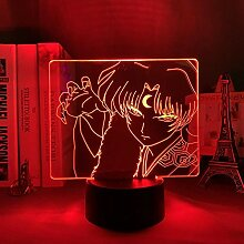 3D Nacht Lampe Anime Illusion Lampe Inuyasha