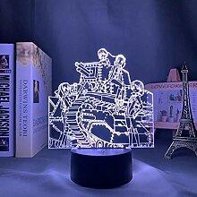 3D Nacht Lampe Anime Illusion Lampe LED Nachtlicht