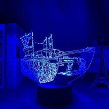 3D Nacht Lampe Girls Und Panzer Led Night Light