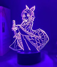 3D Nacht Lampe Illusion Lampe3D-Lampe Anime Demon