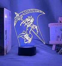 3D Nacht Lampe Illusion LampeAnime Soul Eater Maka