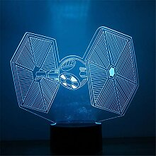 3D Nacht Light3D Led Star Wars Krawatte Kämpfer