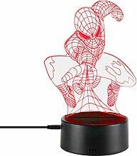 3D-Nachtlampe, optische Illusion, LED-Licht,