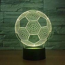 3D Nachtlicht 2018 Fußball 3D Lampe 7 Farben Led