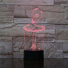 3D Nachtlicht 3D Illusion Lampe Ballett Mädchen
