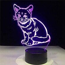 3D Nachtlicht 3D Katze Led Nachtlicht Tierform