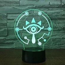 3D Nachtlicht 3D Lampe Die Legende von Zeld Atem
