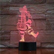 3D Nachtlicht 3D Lampe Weihnachten Weihnachtsmann