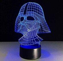 3D Nachtlicht 7 Farbe LED Nachtlicht 3D USB Darth