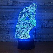3D Nachtlicht 7 Farbe Visuelle Lampe Led