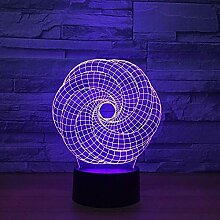 3D Nachtlicht Abstrakt 3D Illusionslampe LED