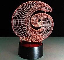 3D Nachtlicht Abstrakte 7 Farbe Changimg 3D