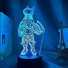 3D Nachtlicht Anime 3D Lampe Katsuki Bakugo Figur