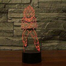 3D Nachtlicht Anime 3D Lampe Sieben Dragon Ball