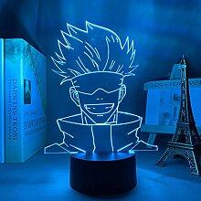 3D Nachtlicht Anime Anime Lampe Satoru Gojo