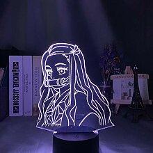 3D Nachtlicht Anime Dämonentöter Kimetsu 3d