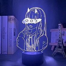 3D Nachtlicht Anime DARLING in der Franxx ZERO