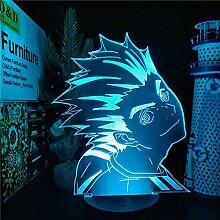 3D Nachtlicht Anime Haikyuu Bokuto Anime Lampe