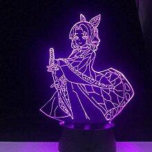 3d Nachtlicht Anime Illusion Shinobu Kocho LED