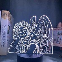 3D Nachtlicht Anime Mein Held Academia Hawks Lampe