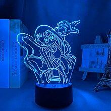 3D Nachtlicht Anime Mein Held Academia Tsuyu Asui