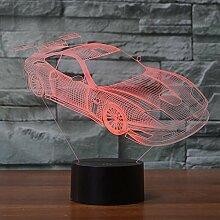 3D Nachtlicht Auto 3D Lampe Optische Täuschung