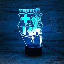 3D Nachtlicht Barcelona Messi Team Illusion