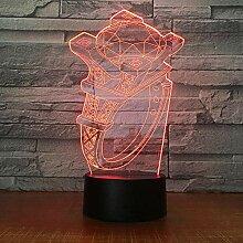 3D Nachtlicht Diamant Ring Modell 3D Lampe 7