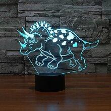3D Nachtlicht, Dinosaurier, bunte Usb Licht, Led