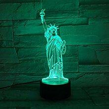 3D Nachtlicht Freiheitsstatue 3D Lampe Led