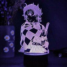 3D Nachtlicht für Jungen Kamado Tanjirou