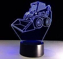 3D Nachtlicht Gabelstapler 3D Led Lampe mit 7