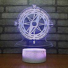 3D Nachtlicht Geburtstagsgeschenke Kompass 3D