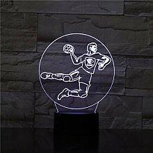 3D Nachtlicht Handball 3D Led Lampe 7 Farbe